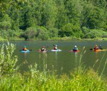 Школа каякинга Алтай мир на озере Манжерок