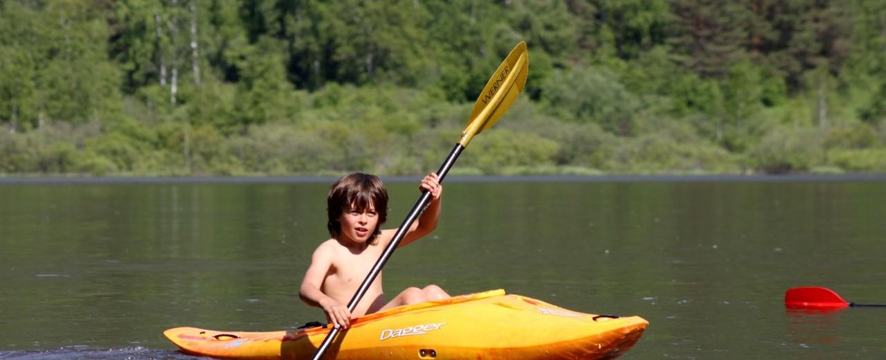 подрастающее поколение каякеров, озеро Манжерок